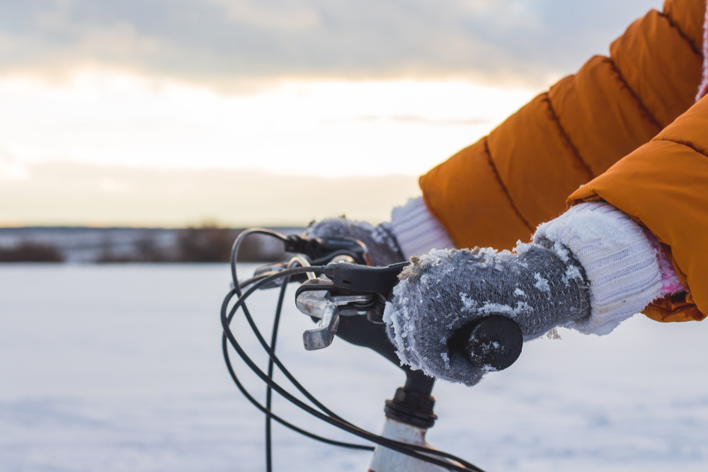 vélo hiver froid